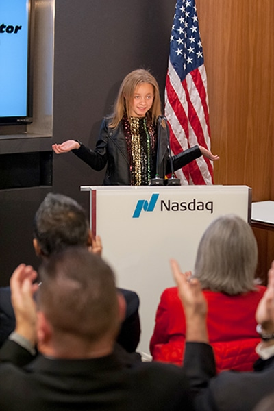 Featured as the youngest speaker at a Nasdaq event
