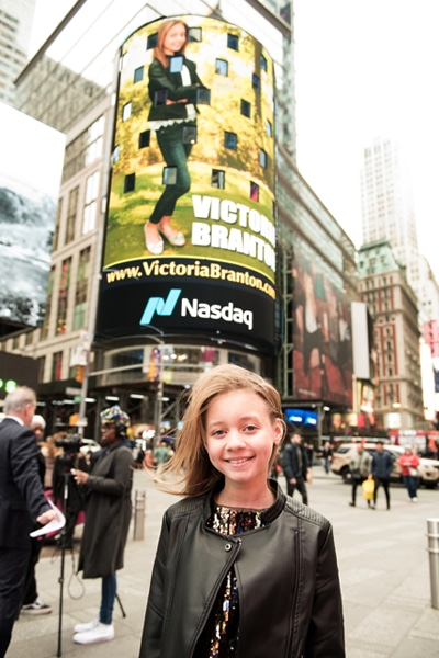FEATURED ON THE NASDAQ JUMBOTRON IN TIMES SQUARE, NEW YORK CITY